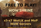World of Warcraft WotLK and MoP private servers